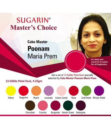 Sugarin Chef Poonam Maria Prem's Choice (Edible Petal Dust)