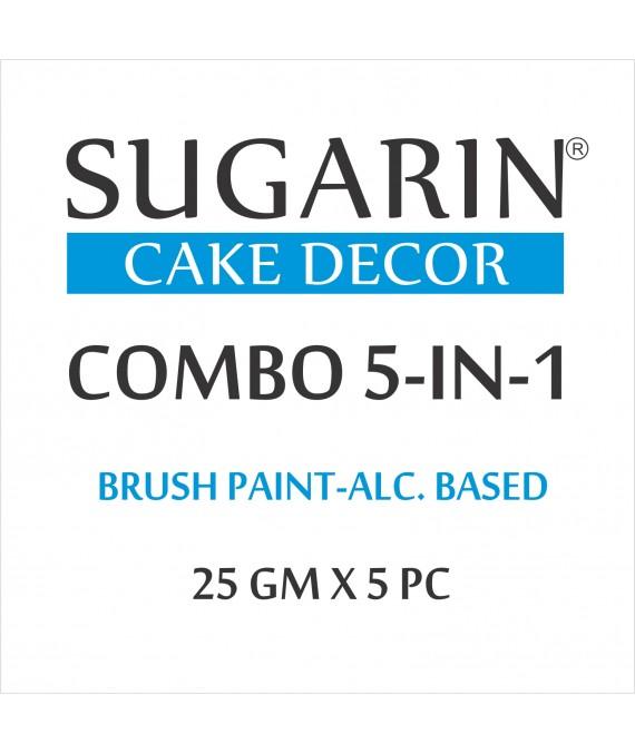 Sugarin Combo Edible Brush Paint, 25gm X 5 pcs.