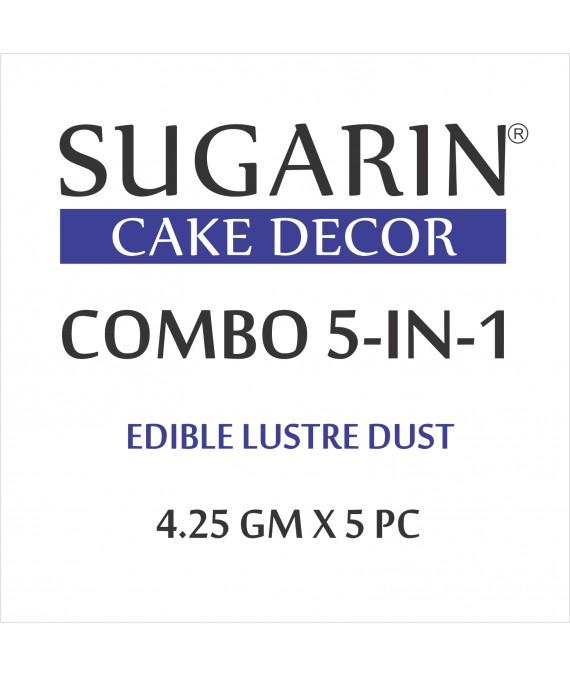 Sugarin Combo Edible Lustre Dust, 4.25gm X 5 pcs.