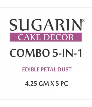 Sugarin Combo Edible Petal Dust, 4.25gm X 5 pcs.