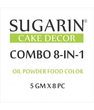 Sugarin Combo Oil Powder Food Color, 5gm X 8 pcs.