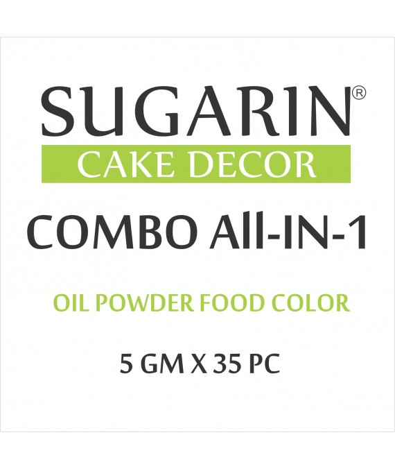 All in One Oil Powder Food Color, 5gm X 35 pcs.