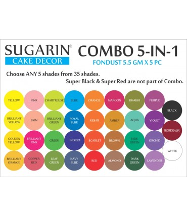 Sugarin Combo Fondust, 5.5gm X 6 pcs.