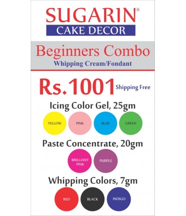 Beginners Combo Icing Color Gel/Paste Concentrate/Whipping Colors