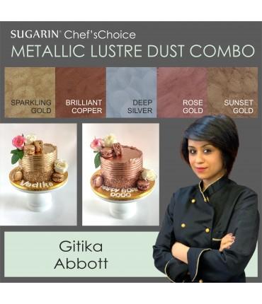 Mettallic Lustre Dust Combo by Gitika Abbott