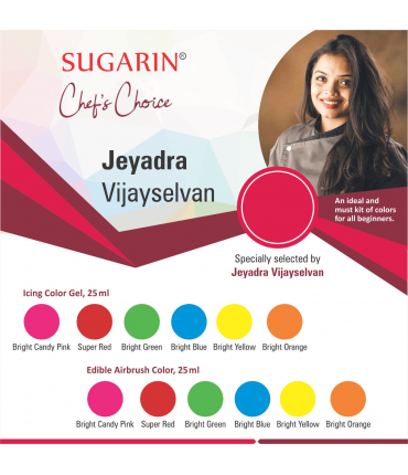 Chef Choice By Jeyadra Vijayselvan (Icing Color Gel + Edible Airbrush Color)