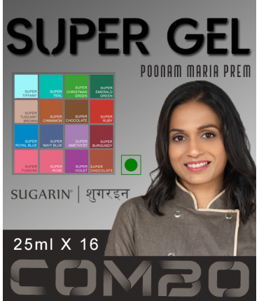 Super Gel Combo by Poonam Maria Prem, 25ml X 16