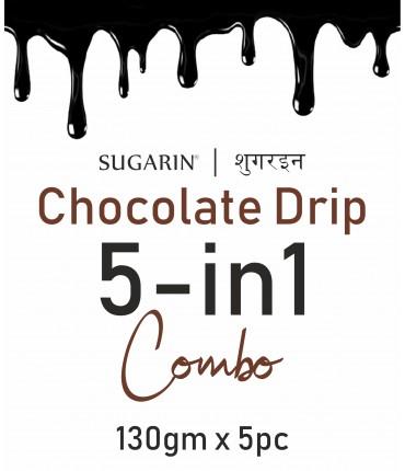 Sugarin Combo Chocolate Drip, 130gm X 5pc