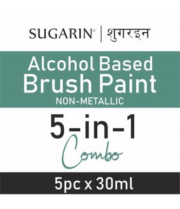 Sugarin Combo Edible Brush Paint, 30ml X 5 pcs.