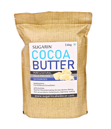SUGARIN Premium Cocoa Butter, 3.6kg