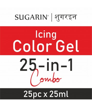 Sugarin Combo Icing Color Gel, 25ml  X 25 pcs.