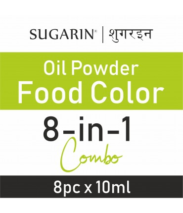 Sugarin Combo Oil Powder Food Color, 10ml X 8 pcs.