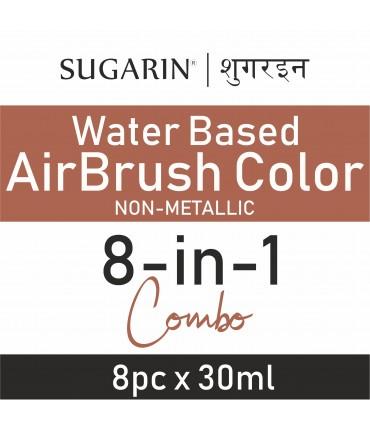 Sugarin Combo Air Brush Color Water-Based Non Metallic, 30ml X 8 pcs.