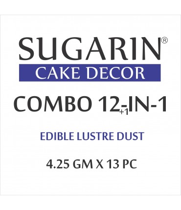 Sugarin Combo Edible Lustre Dust, 10ml X 13 pcs.
