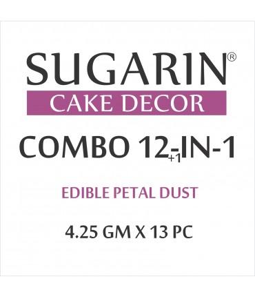 Sugarin Combo Edible Petal Dust, 4.25gm X 13 pcs.