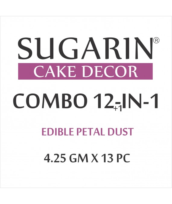 Sugarin Combo Edible Petal Dust, 4.25gm X 13 pcs.