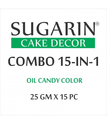 Sugarin Combo Oil Candy Color, 25ml X 15 pcs.