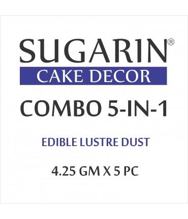 Sugarin Combo Edible Lustre Dust, 10ml X 5 pcs.