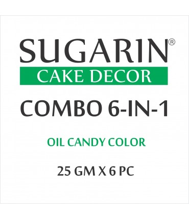Sugarin Combo Oil Candy Color, 25ml X 6 pcs.