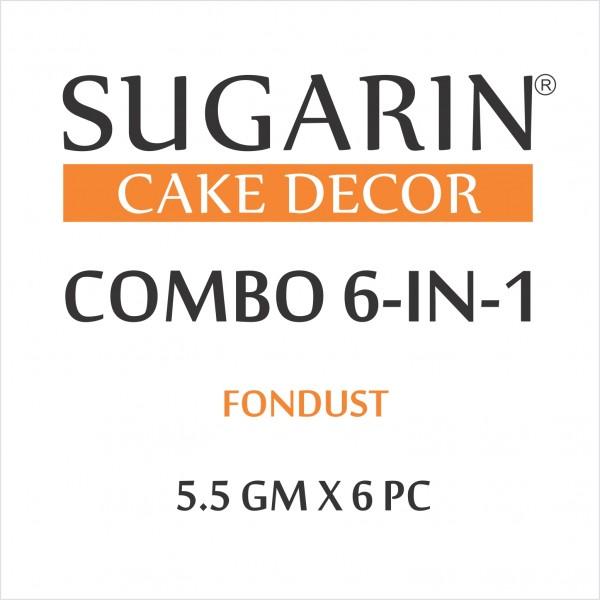 Sugarin Combo Fondust, 5.5gm X 6 pcs.