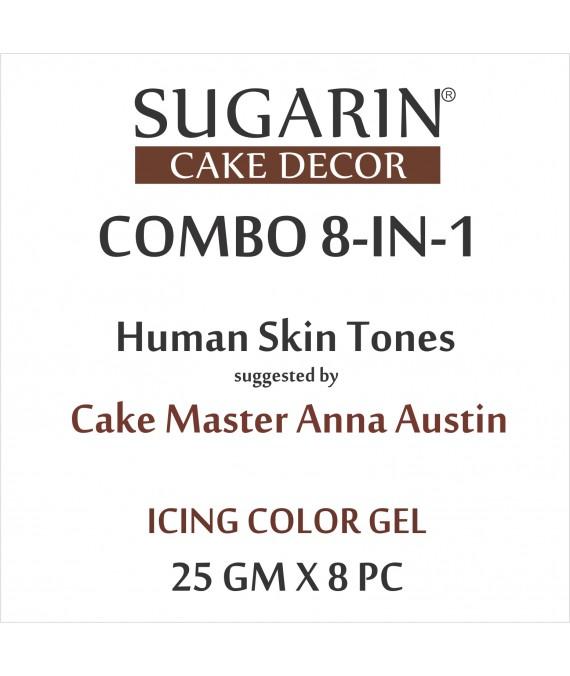 Sugarin Combo Anna Austin Skin Tone, 25gm x 8Pc