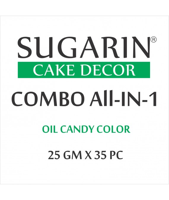 All in One Oil Candy Color, 25gm X 35 pcs.