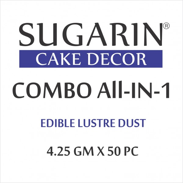 All in One Edible Lustre Dust, 4.25gm X 46 pcs.