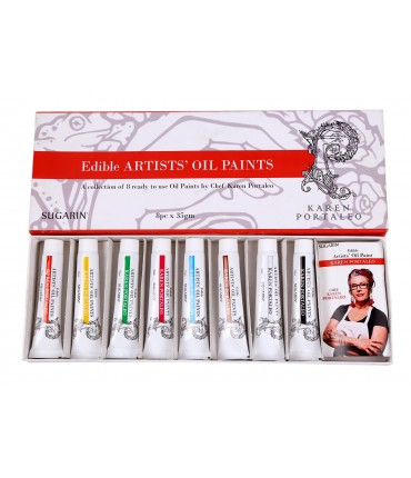 Edible Artists Oil Paint Kit, 35gm x 8 Tubes