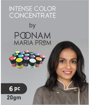 Intense Color Concentrate By Poonam Maria Prem, 20gm x 6 Pcs.