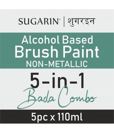 Sugarin Combo Edible Brush Paint Alcohol-Based Non Metallic, 110ml X 5 pcs.