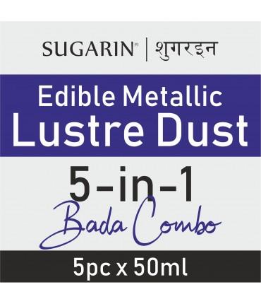Sugarin Combo Edible Lustre Dust, 50ml X 5 pcs.