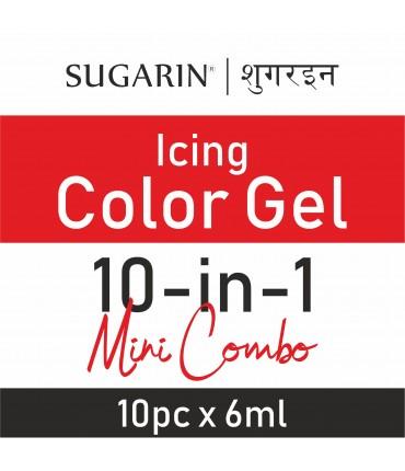 Sugarin Mini Pack Combo Icing Color Gel, 5gm(6ml) X 10 pcs.
