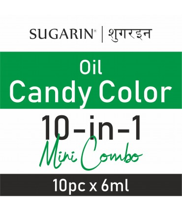 Sugarin Mini Pack Combo Oil Candy Color, 5gm(6ml) X 10 pcs.