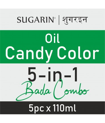 Sugarin Combo Oil Candy Color, 110ml X 5 pcs.