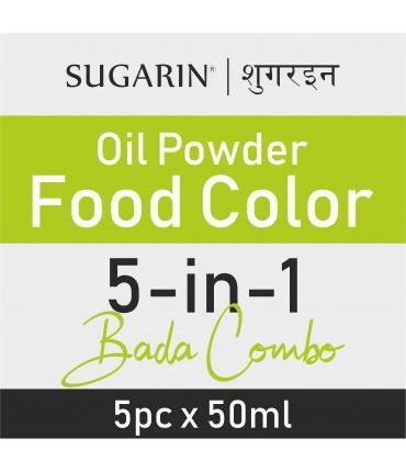 Sugarin Combo Oil Powder Food Color, 50ml X 5 pcs.
