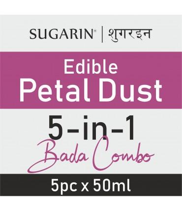 Sugarin Combo Edible Petal Dust, 50ml X 5 pcs.