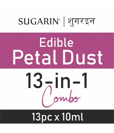 Sugarin Combo Edible Petal Dust, 10ml X 13 pcs.